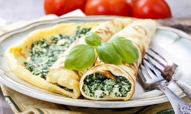 Συνταγή για κρέπες με σπανάκι και φέτα!