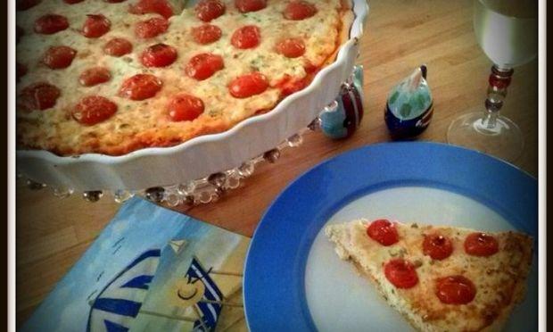 Συνταγή για «τυρένια» τάρτα με ντοματίνια!