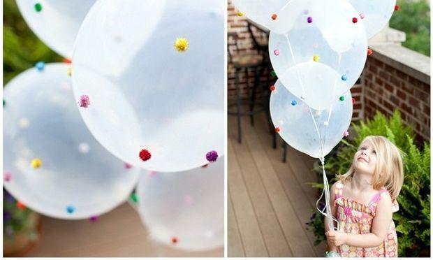 Φτιάξτε μόνες σας μπαλόνια με pom poms για παιδικό πάρτι και ξετρελάνετε τα παιδιά!