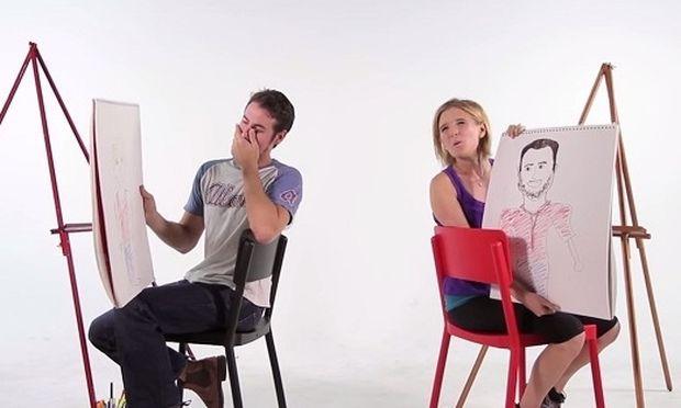 Ζευγάρια ζωγραφίζουν ο ένας τον άλλο και το αποτέλεσμα είναι ξεκαρδιστικό! (βίντεο)