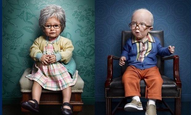 Νηπιάκια σε ρόλο…ηλικιωμένων! (εικόνες)
