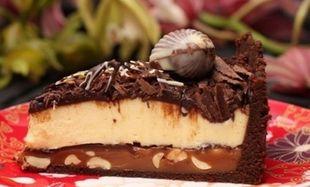 Συνταγή για εύκολο τσιζκέικ σοκολάτας με 6 υλικά!