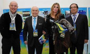 """Βράβευση Μίνας Παπαθεοδώρου-Βαλυράκη  με το βραβείο της Διεθνούς Ολυμπιακής Επιτρόπης - IOC """"Arts and Sports""""  32o Festival Ficts, Μιλάνο"""