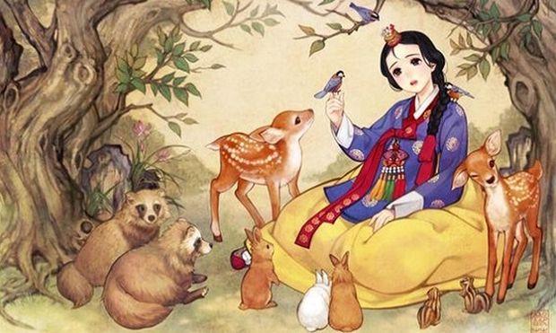 Κορεάτης καλλιτέχνης δίνει ανατολίτικο αέρα στα πιο γνωστά παραμύθια!