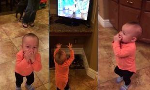 Μοναδικό!Αυτή η μικρή παρακολουθούσε το σόου της Ellen DeGeneres, όταν αντίκρισε κάτι για πρώτη φορά. (βίντεο)
