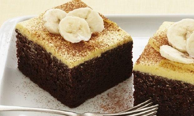 Συνταγή για λαχταριστό κέικ σοκολάτα μπανάνα!