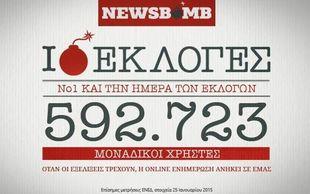 Το NEWSBOMB.GR κορυφαίο και... αυτοδύναμο την ημέρα των εκλογών!