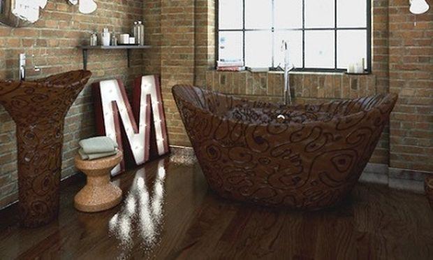 Απίστευτο και όμως αληθινό. Μπάνιο φτιαγμένο από βελγική σοκολάτα!(εικόνες)