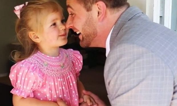 Μπαμπάς κάνει μοναδικό, το πρώτο ραντεβού της κόρης του!(βίντεο)
