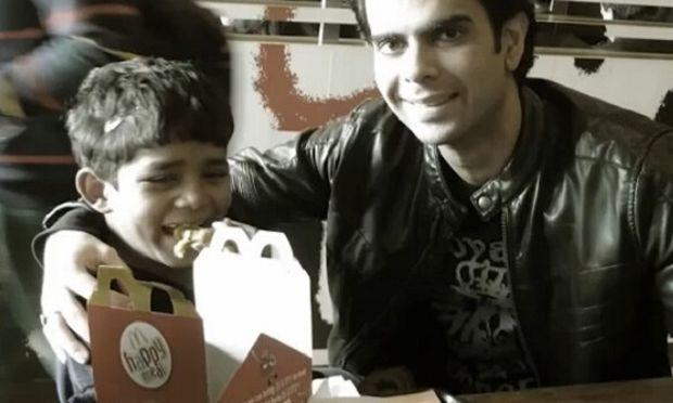 Ένα φτωχό αγόρι, τρώει για πρώτη φορά στη ζωή του φαγητό «fast food»! Δείτε την αντίδρασή του(βίντεο)