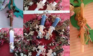 Φτιάξτο μόνη σου: Πασχαλινές λαμπάδες σε ρομαντικό ύφος!