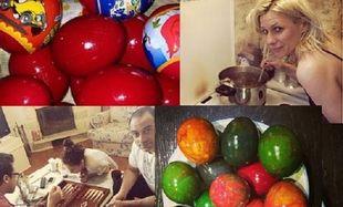 Ράνια Θρασκία - Κατερίνα Καραβάτου: Έβαψαν τα πασχαλινά αυγά τους και μας τα δείχνουν! (εικόνες)
