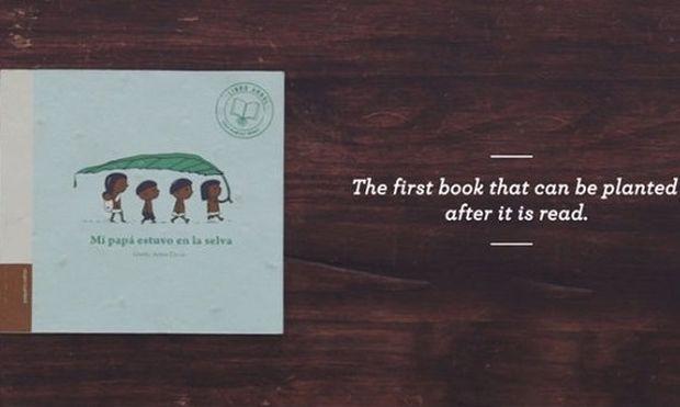 Το βιβλίο που μπορεί να φυτευτεί και να μετατραπεί σε δέντρο αφότου κάποιος το διαβάσει! (εικόνες και βίντεο)