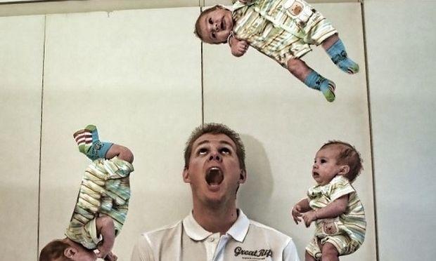 Αυτός ο μπαμπάς περιγράφει το δέσιμο με τον λίγων μηνών γιο του με τις πιο ξεκαρδιστικές φωτογραφίες! (εικόνες)