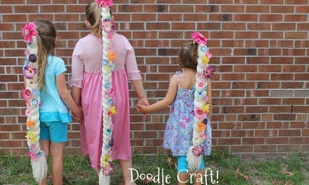 DIY: Πλεξούδα ραπουνζέλ για κορίτσια