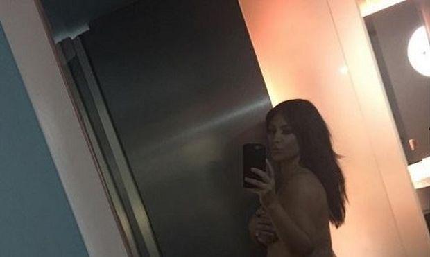 Η Κιμ Καρντάσιαν, ποζάρει γυμνή για να αποδείξει ότι είναι έγκυος! (εικόνα)