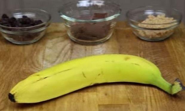 Δείτε πώς θα μεταμορφώσετε μια μπανάνα σε ένα απολαυστικό σνακ για τα παιδιά σας! (βίντεο)