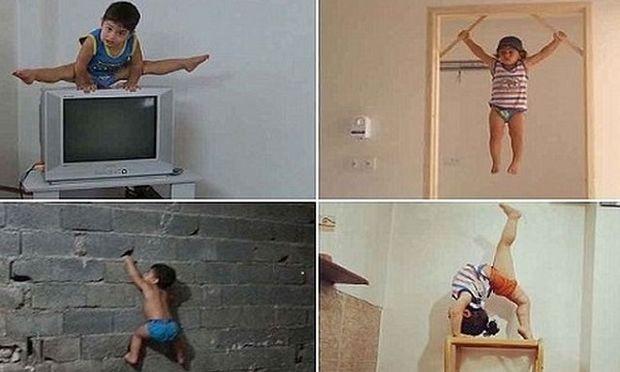 Αυτό είναι το παιδί-θαύμα της γυμναστικής! Είναι μόλις 2 ετών και κάνει τα απίστευτα! (βίντεο)