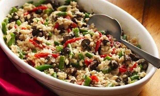 Συνταγή για μυρωδάτο ριζότο λαχανικών με κοτόπουλο