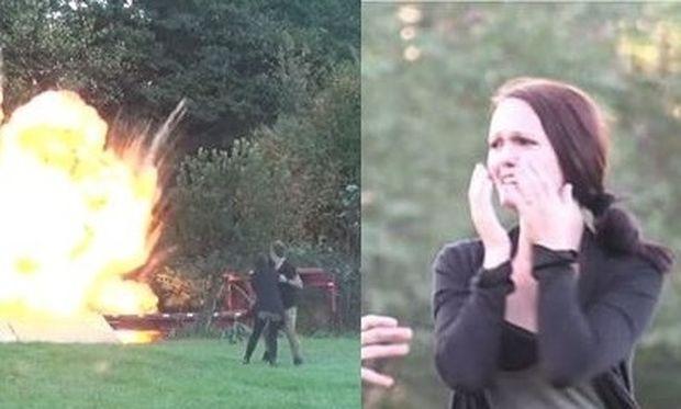 Ο άνδρας της, της έκανε τη χειρότερη φάρσα... ανατινάζοντας το παιδί τους! (βίντεο)