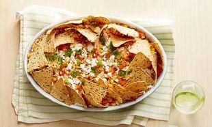 Νόστιμο χοιρινό με nachos και κόλιανδρο