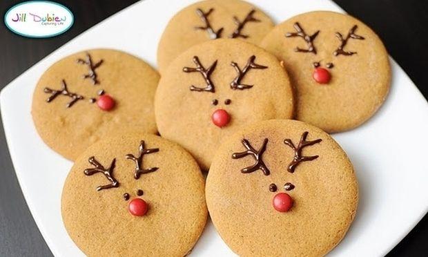 Εύκολα ρούντολφ μπισκότα βανίλιας
