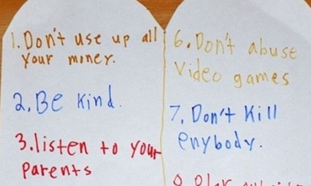 Ξεχάστε τις 10 εντολές που ξέρατε. Ένας 11χρονος τις ξαναέγραψε!