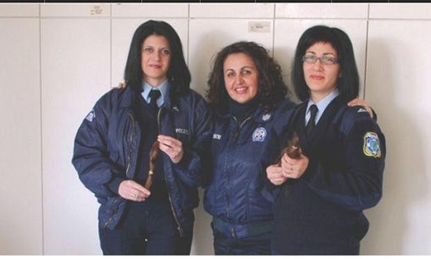 Γυναίκες αστυνομικοί της Καρδίτσας δώρισαν τα μαλλιά τους για παιδιά που πάσχουν από καρκίνο