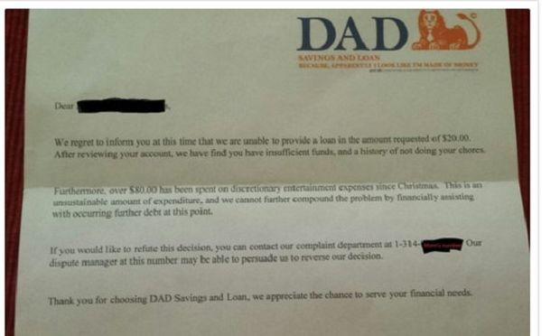 6χρονος ζήτησε δάνειο από «τράπεζα»-Δείτε την απαντητική επιστολή που έγινε viral!