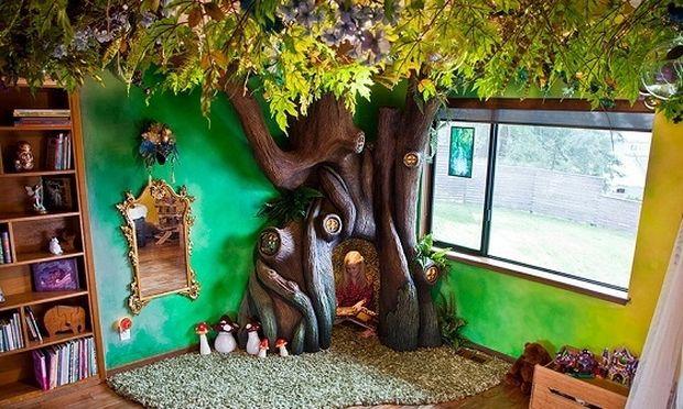 Ένας πατέρας ικανοποίησε την επιθυμία της κόρης του και της έφτιαξε ένα νεραϊδόδεντρο στο δωμάτιό της!