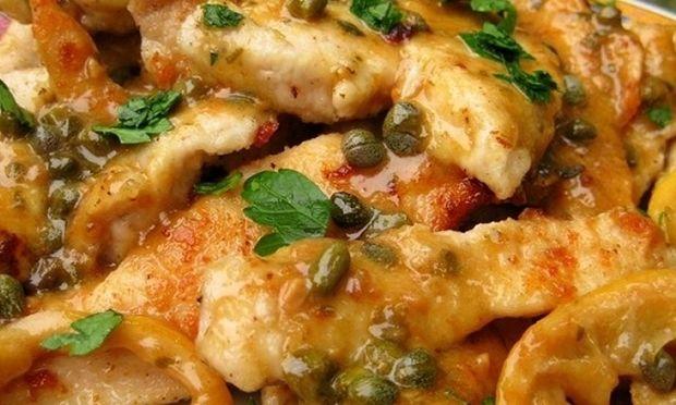 Ζουμερό κοτόπουλο πικάτα με χυμό λεμονιού (βίντεο)