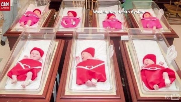 ΗΠΑ: Νεογέννητα μωρά στέλνουν μήνυμα αγάπης