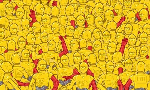 Μπορείτε να βρείτε το χρυσό αγαλματίδιο των Όσκαρ που είναι κρυμμένο ανάμεσα στα ρομπότ;