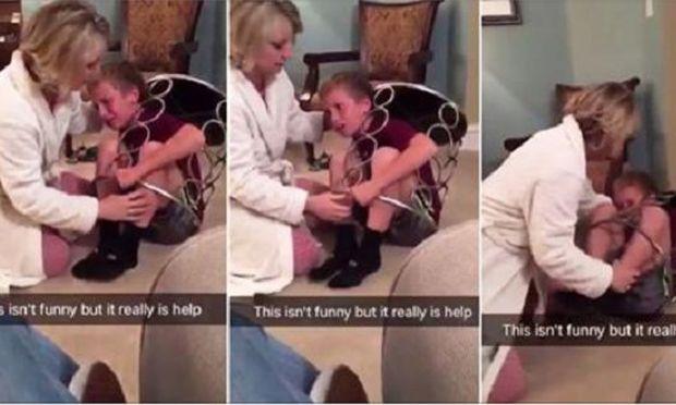 Ένα αγόρι παγιδεύτηκε σε τραπεζάκι. Ζήτησε βοήθεια από την αδελφή του,όμως εκείνη... (βίντεο)