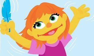 Αυτή είναι η Julia.Τo πρώτο muppet με αυτισμό