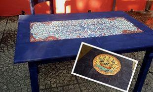 Δώστε μια ethnic πινελιά στο παλιό σας ξύλινο τραπέζι
