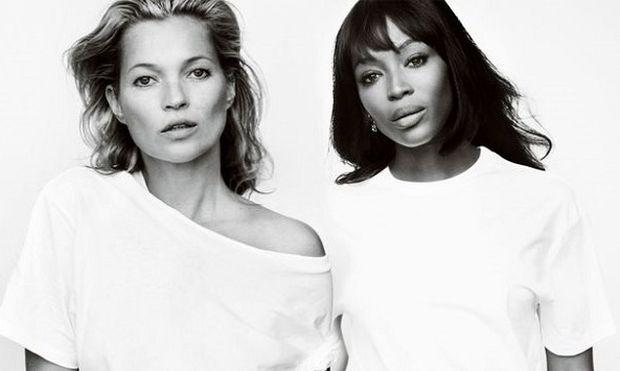 Kate Moss και Naomi Campbell ποζάρουν ξανά για τον καρκίνο του μαστού