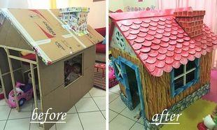 Παππούς έφτιαξε στην εγγονή του ένα κουκλίστικο σπίτι με χαρτόνια! (εικόνες)