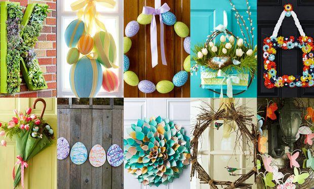 Ιδέες για να διακοσμήσετε την πόρτα του σπιτιού σας το Πάσχα
