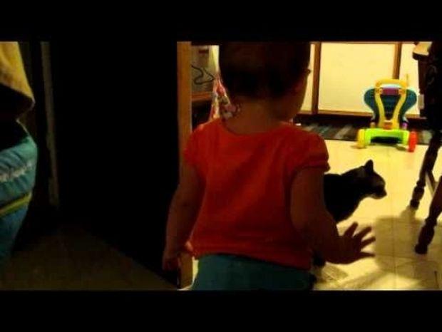 Το κοριτσάκι μιλάει στη γάτα κι αυτή απαντάει κανονικά! Δείτε τον απίστευτο διάλογο! (video)