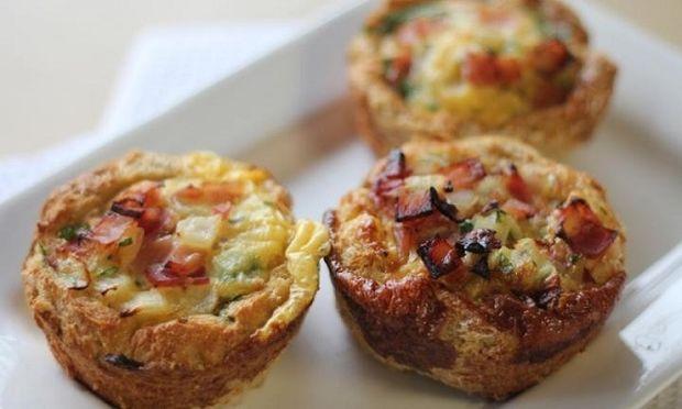 Φαγητό για πάρτι: Μίνι ομελέτες φούρνου με μπέικον