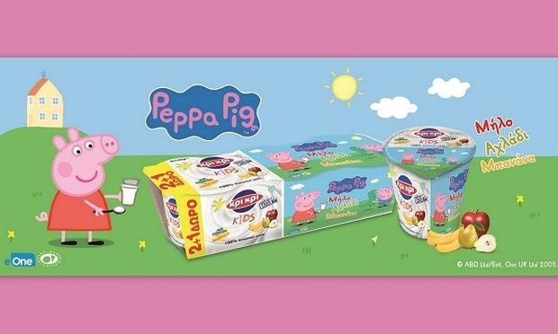 Νέα παιδικό γιαούρτι από την Κρι Κρι: Η «Πέππα το Γουρουνάκι» σχεδιάστηκε ειδικά για τις ανάγκες των παιδιών προσχολική ηλικίας