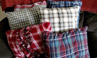 Deco: Ανανεώστε τα παλιά σας μαξιλάρια, ντύνοντάς τα με... πουκάμισα!