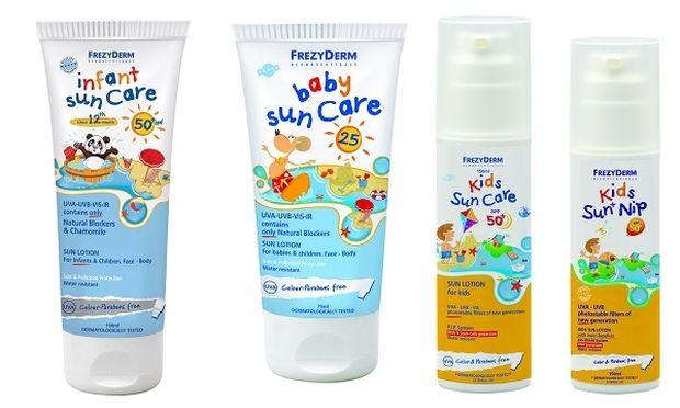 Αντηλιακή προστασία για τους μικρούς κολυμβητές από την FREZYDERM