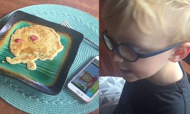 Διάσημος μπαμπάς έφτιαξε στο γιο του τηγανίτες αλλά ο μικρός δεν ενθουσιάστηκε (βίντεο)