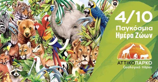 Αττικό Ζωολογικό Πάρκο: Γιορτάζουμε μαζί την Παγκόσμια Ημέρα των Ζώων