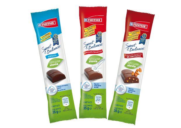 Σοκολάτες SWEET & BALANCE 35γρ. από τη ΓΙΩΤΗΣ  Σοκολατένια απόλαυση παντού και πάντα!