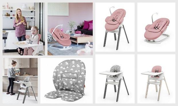 Stokke® Steps™ ριλάξ και μαξιλάρια baby set σε ελκυστικά νέα χρώματα που ταιριάζουν στο στυλ και το χώρο σας!