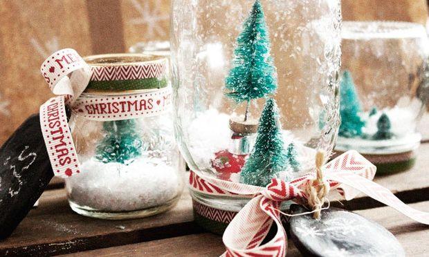Φτιάξτε τις δικές σας χριστουγεννιάτικες χιονόμπαλες-20 σχέδια που θα λατρέψετε