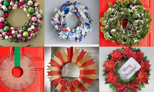 Ιδέες για όμορφα και πρωτότυπα χριστουγεννιάτικα στεφάνια